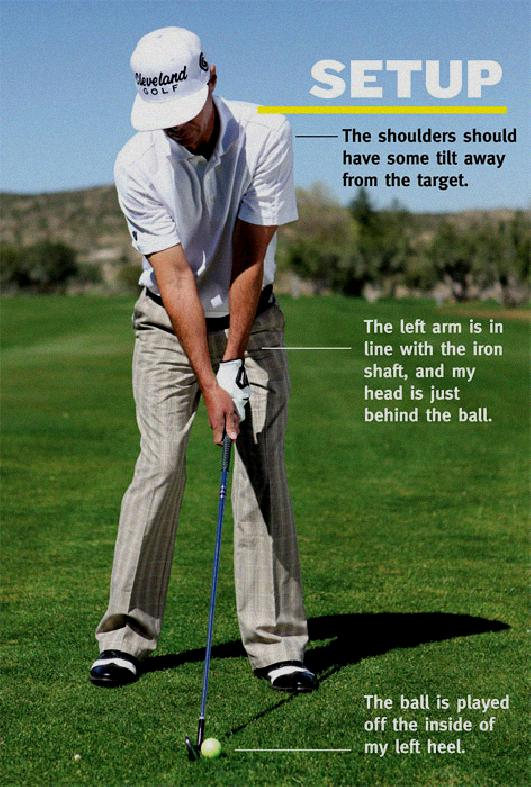 arms in golf swing