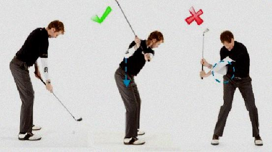 golf swing flying right elbow