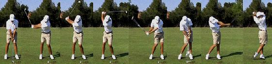 golf swing irons slow motion