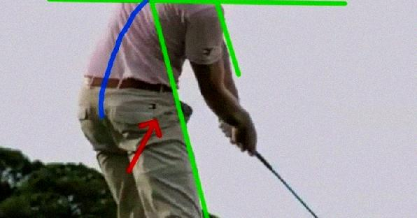 lateral side bend golf swing