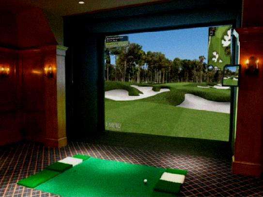 swing track golf simulator cost